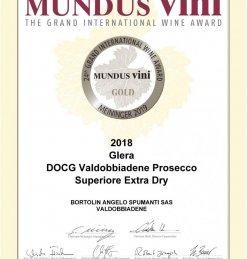 MEDAGLIA D'ORO PER IL NOSTRO EXTRA DRY AL MUNDUS VINI 2019